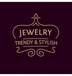 logo for jewelry salon Luxury and elegance vector image vector image