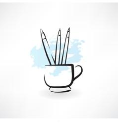 pencils grunge icon vector image vector image