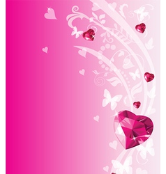 Valentine place card vector image vector image