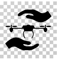 airdrone care hands icon vector image