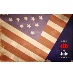 grunge flag of USA for independence day vector image vector image