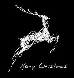 Hand drawn jump deer vector image vector image