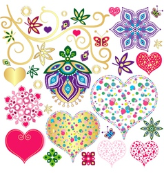 Set colorful design element vector image