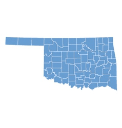 State map of Oklahoma by counties vector image vector image