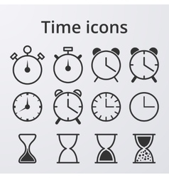 Stock Clock set icons vector image