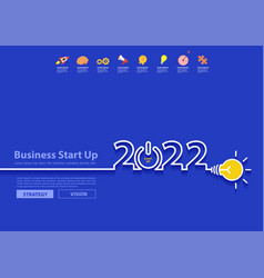 2022 new year design with creative light bulb vector