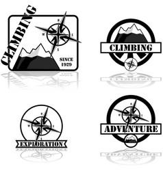 Adventure badges vector