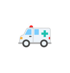 Ambulance car solid icon healtcare sign vector