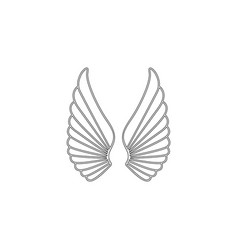 angel wings flat icon vector image