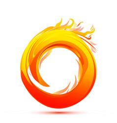 Ball of fire flame icon vector