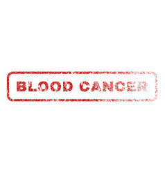 Blood cancer rubber stamp vector