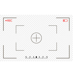 Camera frame viewfinder screen video recorder vector