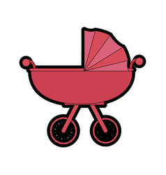 Car for baby cartoon vector