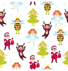 Carnival kids seamless pattern vector