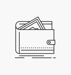 cash finance money personal purse line icon vector image