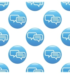Chatting sign pattern vector image