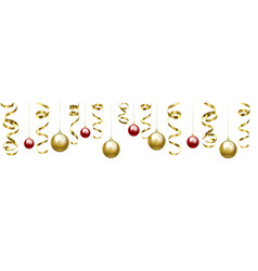 christmas clip art with baubles vector image