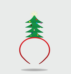 christmas tree headband vector image