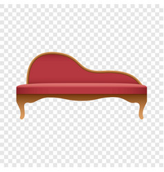 curved red sofa mockup realistic style vector image