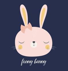 Cute cartoon bunny vector