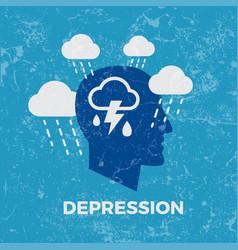 Depression concept vector