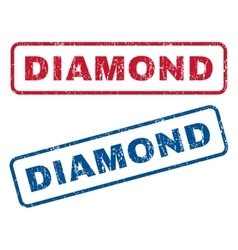 Diamond rubber stamps vector