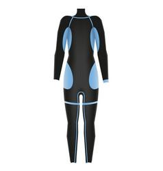 Diving suit scuba suit underwater equipment vector