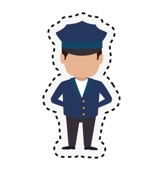 Driver hotel service isolated icon vector
