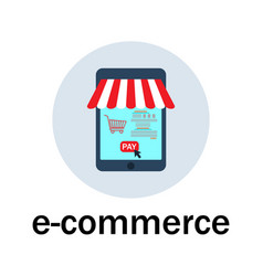 E-commerce and web store icon vector