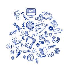 Education doodles vector