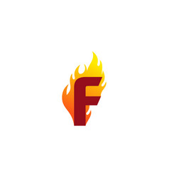 f letter fire logo icon design vector image