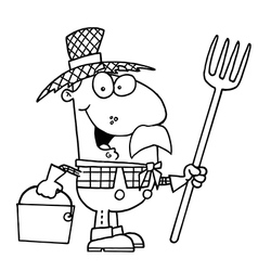 Farmer cartoon vector image