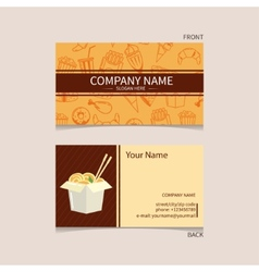 Fast food business card vector image