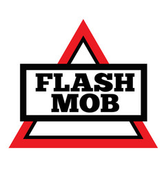 Flash mob stamp on white vector