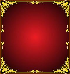 fram floral gold vector image