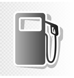 Gas pump sign new year blackish icon on vector