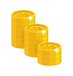 Gold pound coins vector