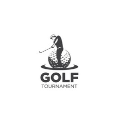 golf tournament logo vector image