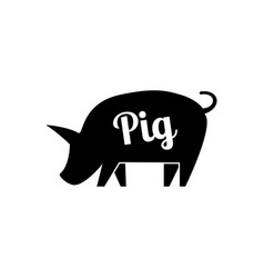 graphical pig hand drawing vector image