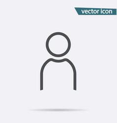 gray user icon isolated on background modern flat vector image