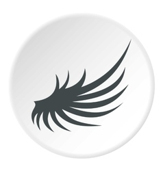 Gray wing icon flat style vector
