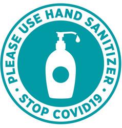 Hand sanitizer signage or floor sticker vector