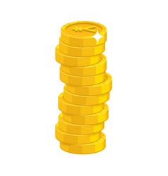 Heap gold coins vector