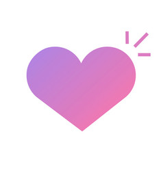Heart healthy alive good feel or love passion icon vector