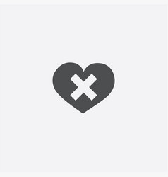 heart plaster icon vector image