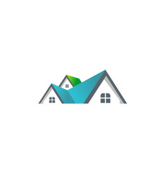 House roof company logo vector