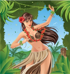 Hula Dancer vector image