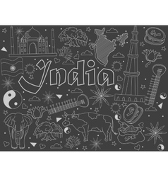 India chalk vector