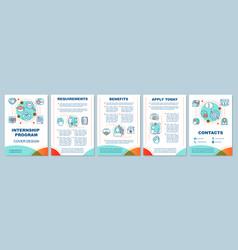 Internship program brochure template layout vector