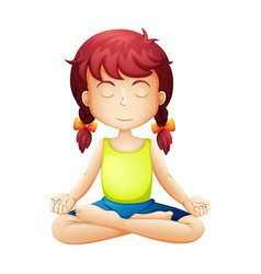 kids yoga meditation vector image